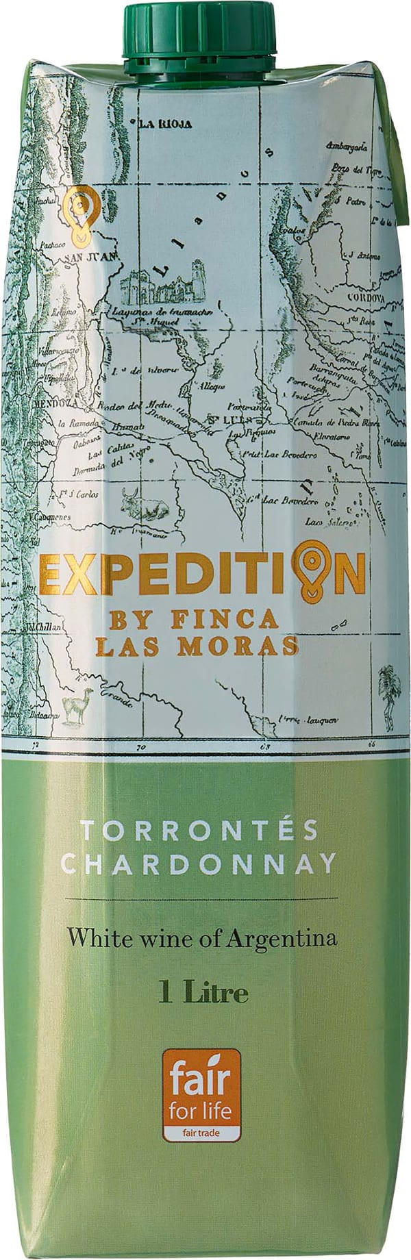 Expedition by Finca Las Moras Torrontés Chardonnay 2019 carton package