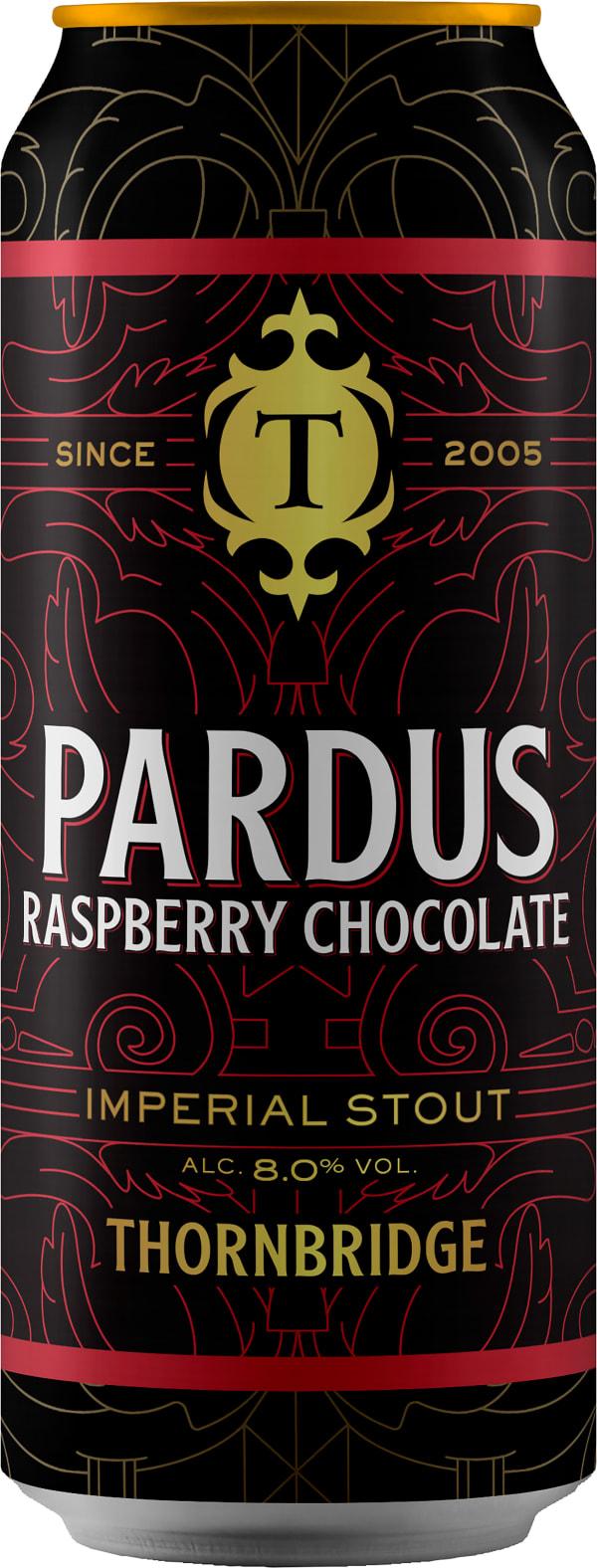 Thornbridge Pardus Raspberry Chocolate Imperial Stout can