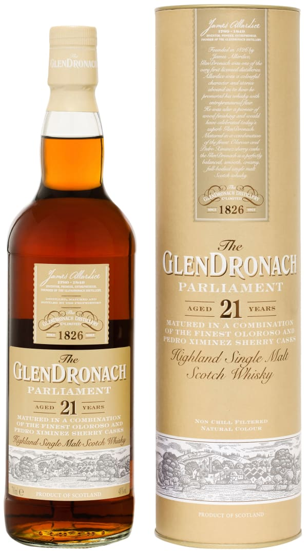 The GlenDronach Parliament 21 Year Old Single Malt
