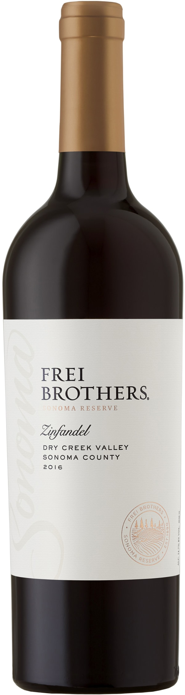 Frei Brothers Reserve Zinfandel Dry Creek Valley 2016