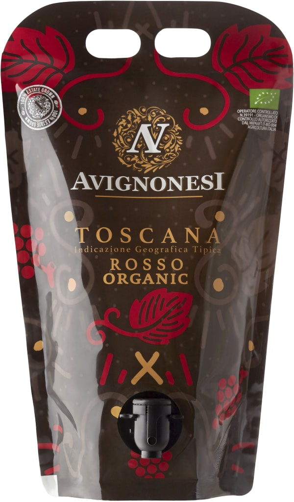 Avignonesi Toscana Rosso Organic 2019 wine pouch