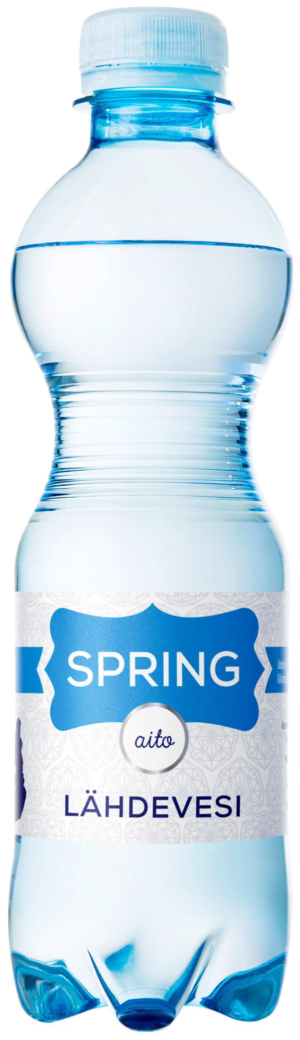 Spring Lähdevesi plastic bottle