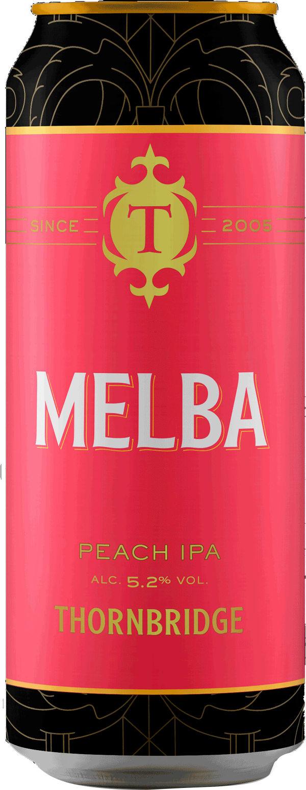 Thornbridge Melba Peach IPA can