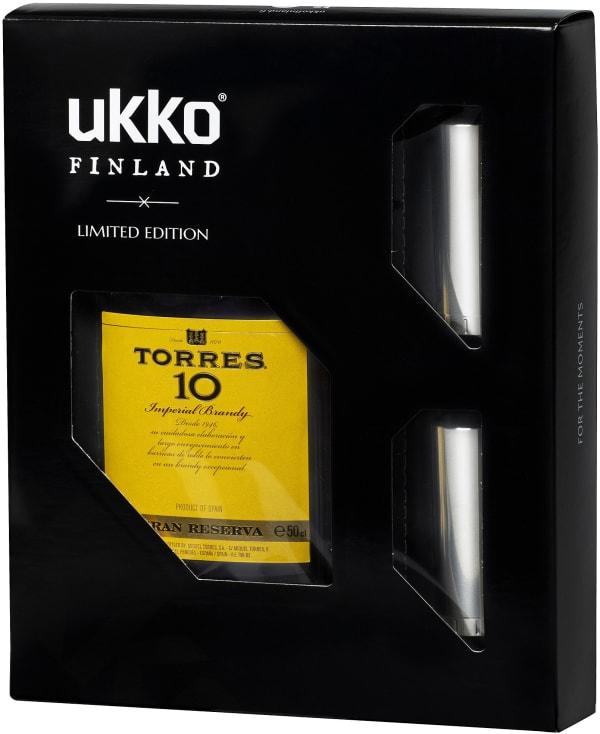 Torres 10 Brandy 50cl UKKO -lahjapakkaus plastic bottle