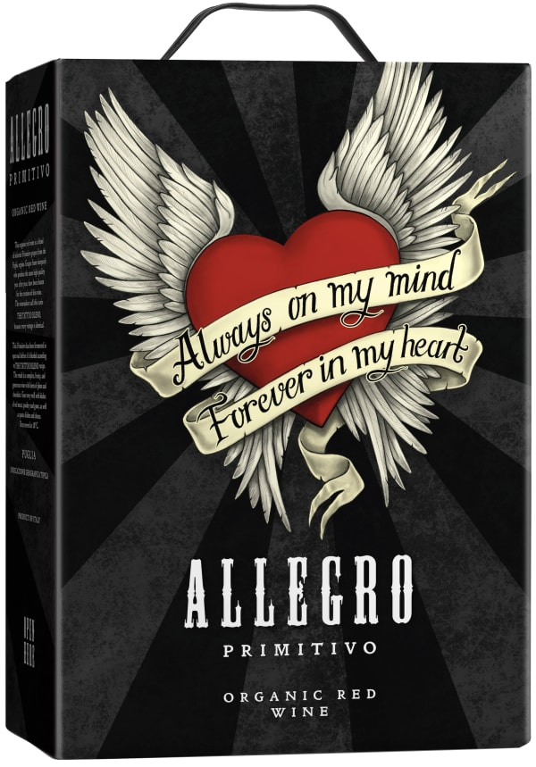Allegro Organic Primitivo 2016 bag-in-box