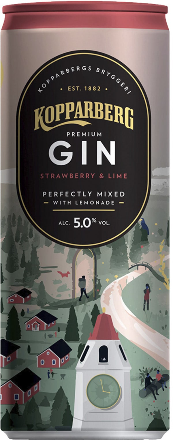 Kopparberg Premium Gin Strawberry & Lime can