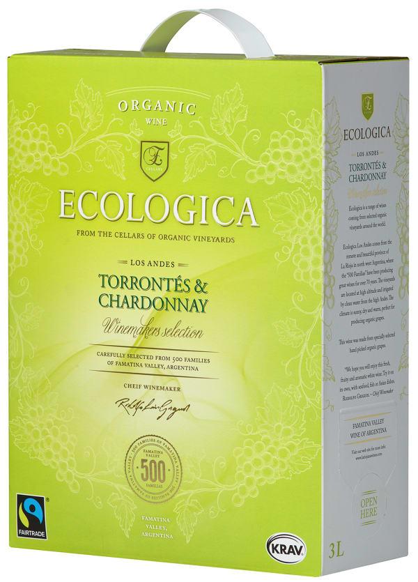 Ecologica Organic Torrontes Chardonnay 2016 bag-in-box