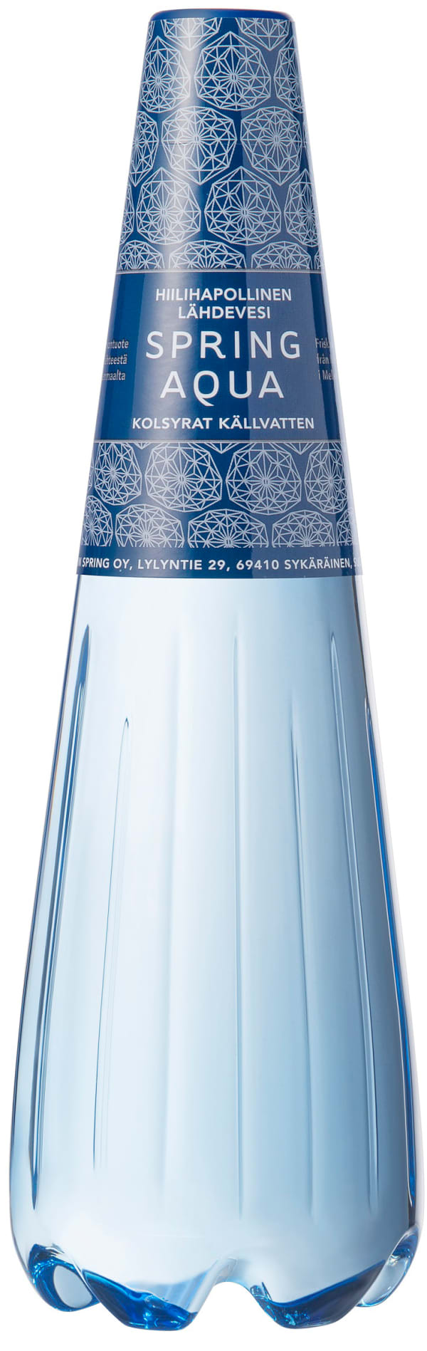 Spring Aqua Hiilihapollinen Lähdevesi plastic bottle