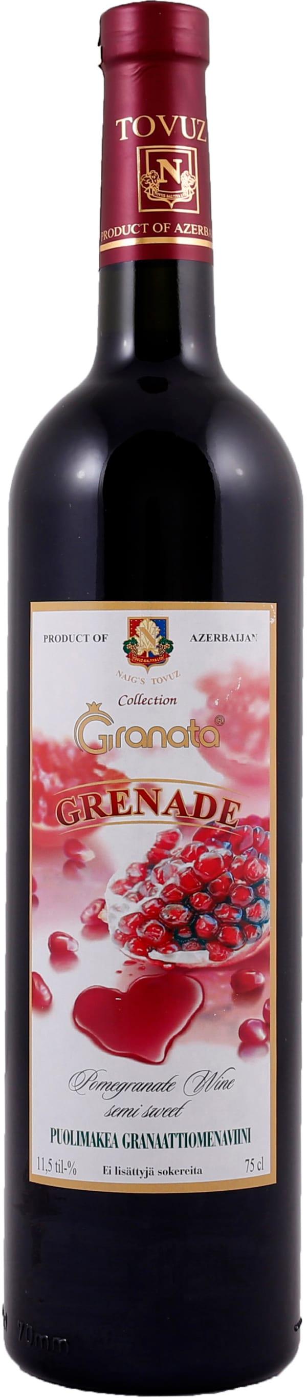 Grenade Wine Semi Sweet Puolimakea Granaattiomenaviini