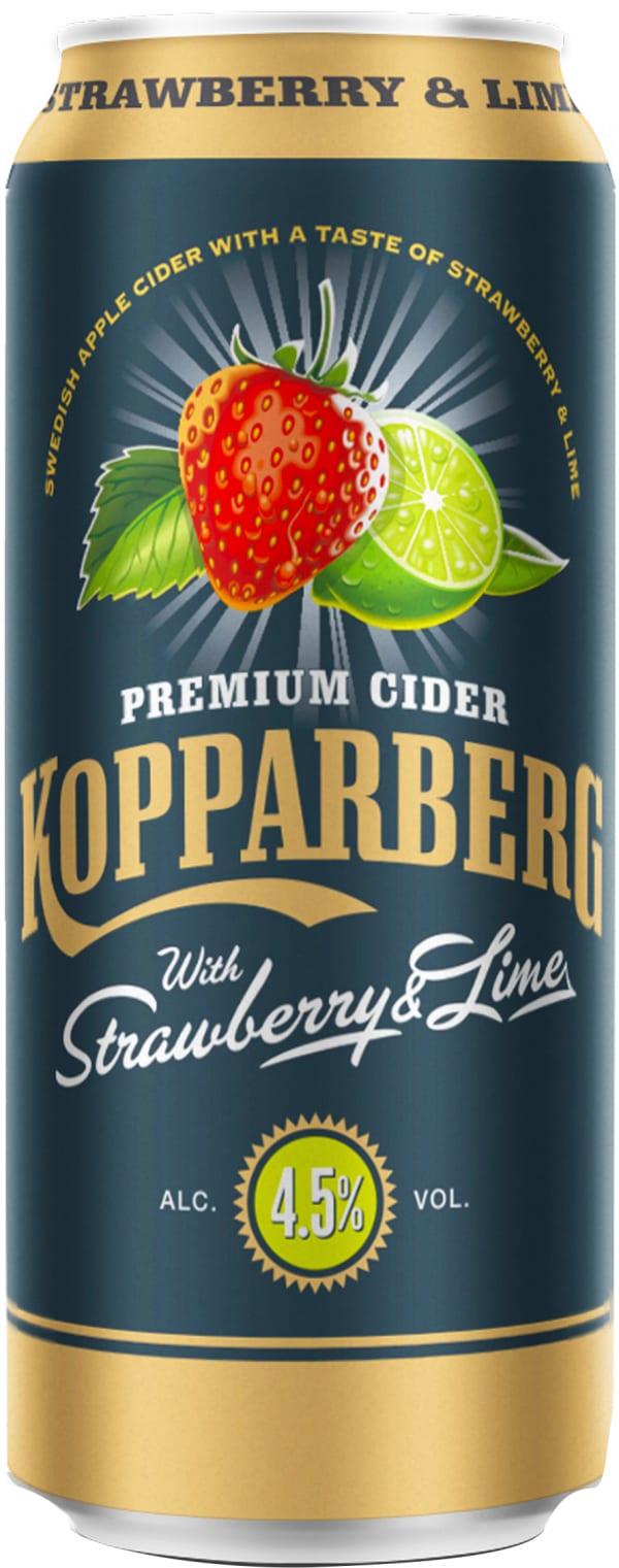 Kopparberg Strawberry & Lime Premium Cider can