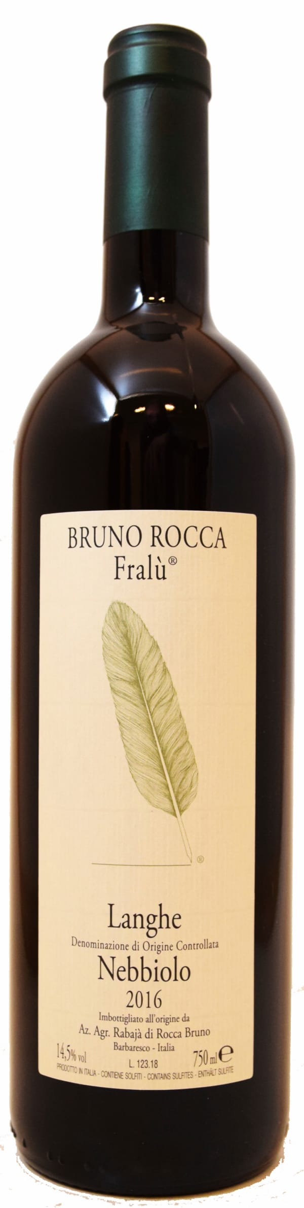 Bruno Rocca Fralu Nebbiolo 2019