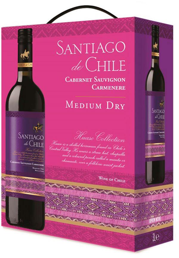 Santiago de Chile Cabernet Sauvignon Carmenere Medium Dry 2017 bag-in-box
