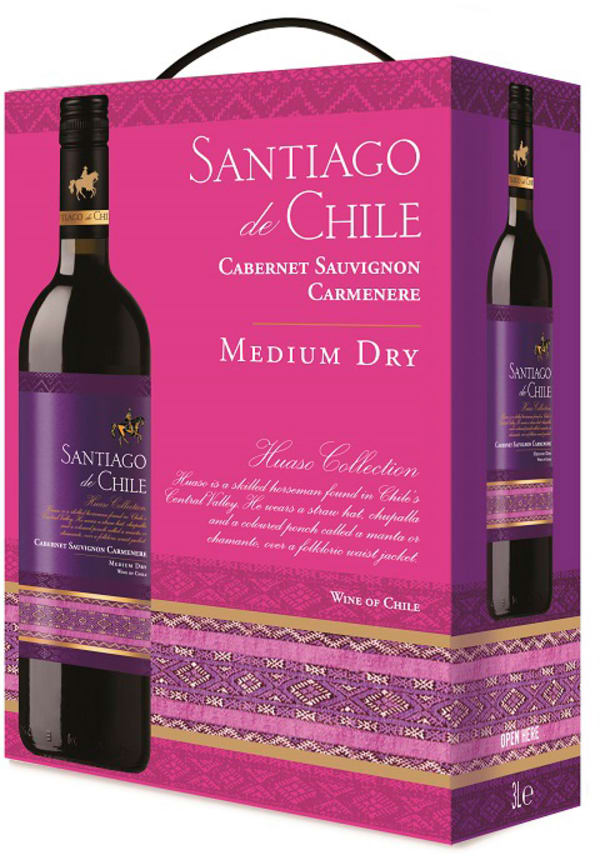 Santiago de Chile Cabernet Sauvignon Carmenere Medium Dry 2019 bag-in-box