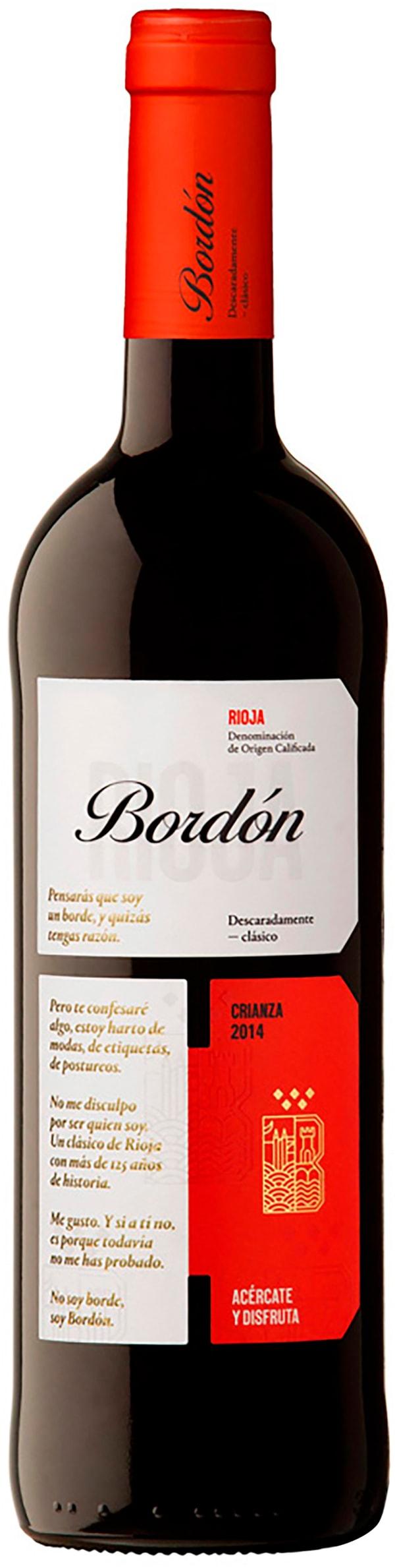 Rioja Bordón Crianza 2015