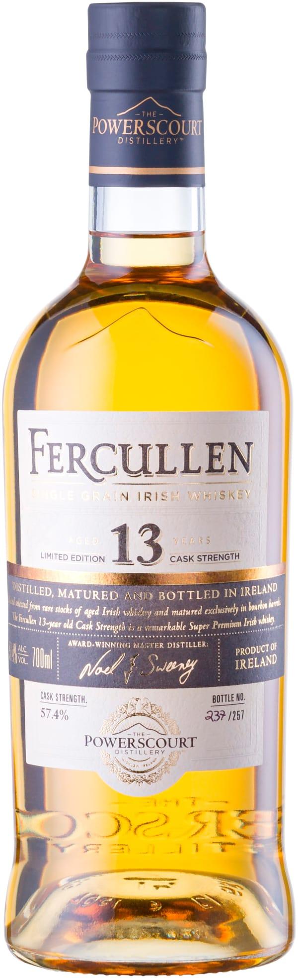 Fercullen 13 Year Old Single Cask Release Single Grain