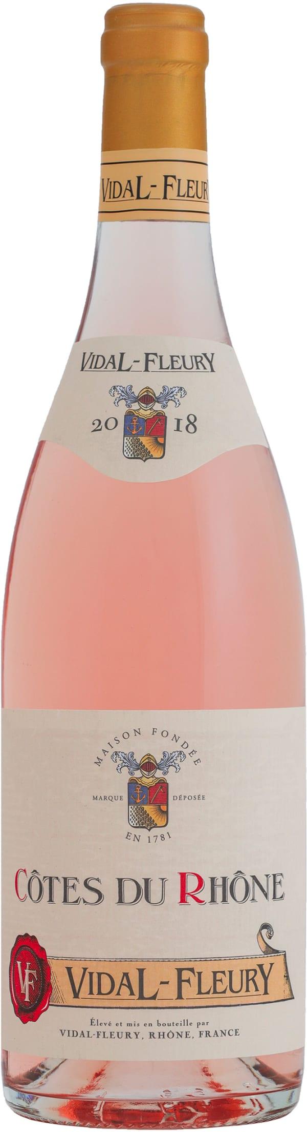 Vidal-Fleury Côtes du Rhône Rosé 2018