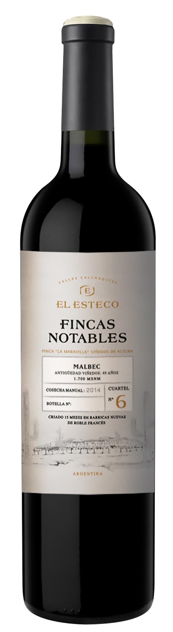 El Esteco Fincas Notables Malbec 2014