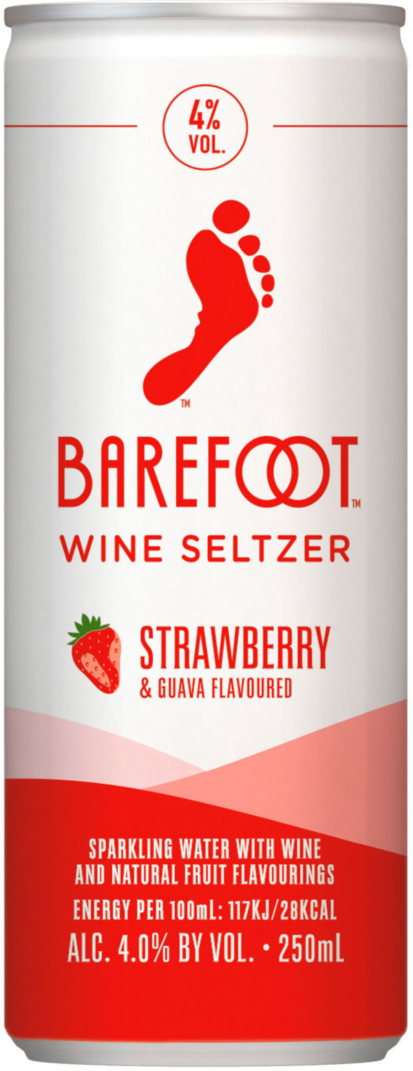 Barefoot Wine Seltzer Strawberry Guava can