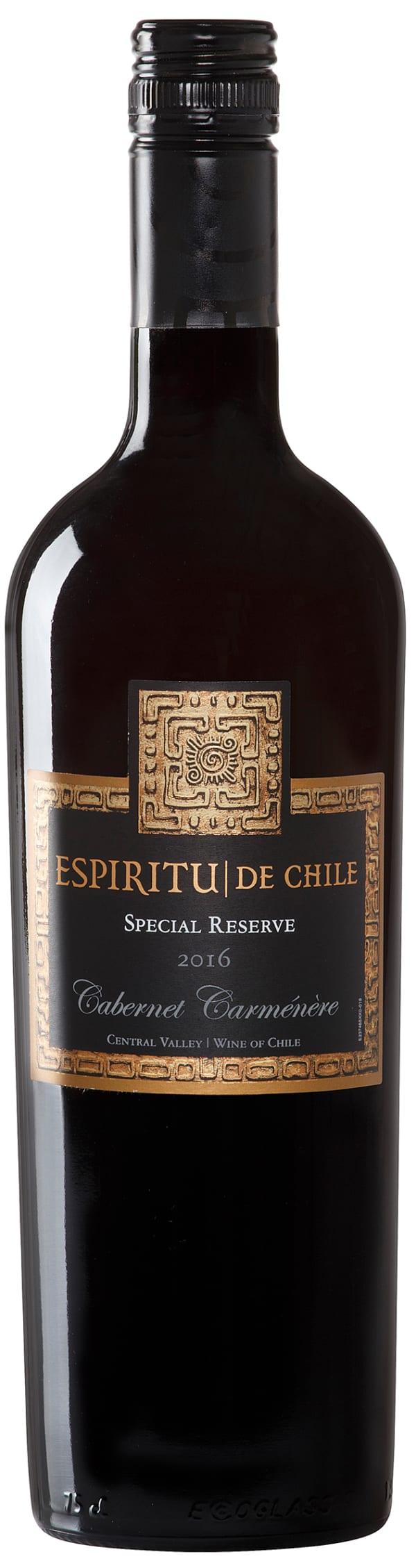 Espiritu de Chile Special Reserve Cabernet Carménère 2016