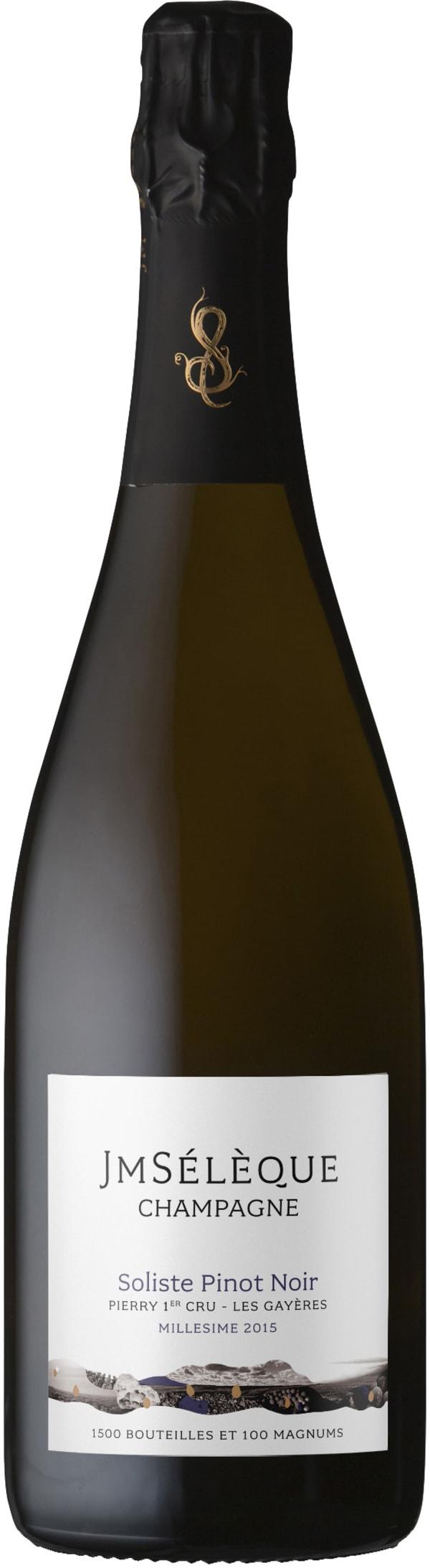 J-M Sélèque Soliste Pinot Noir Champagne Extra Brut 2015