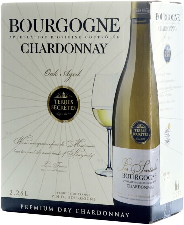 Terres Secretes Bourgogne Chardonnay Oak Aged 2017 hanapakkaus