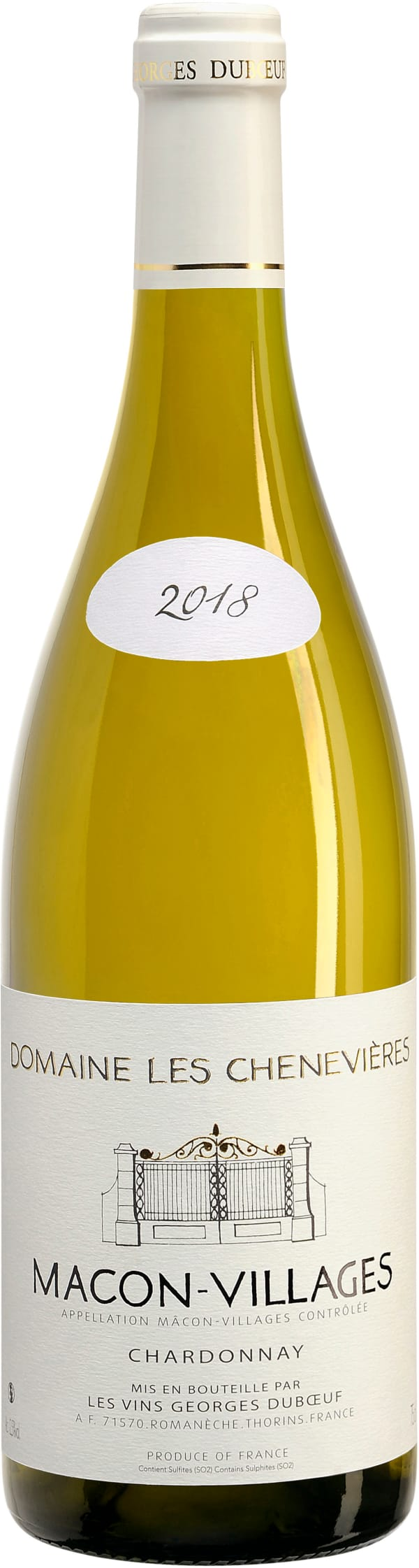 Domaine Les Chenevières Mâcon Blanc Villages Chardonnay 2018