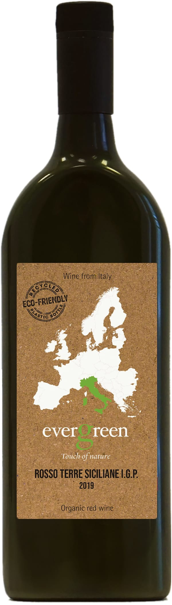Evergreen Rosso Terre Siciliane 2019 plastic bottle