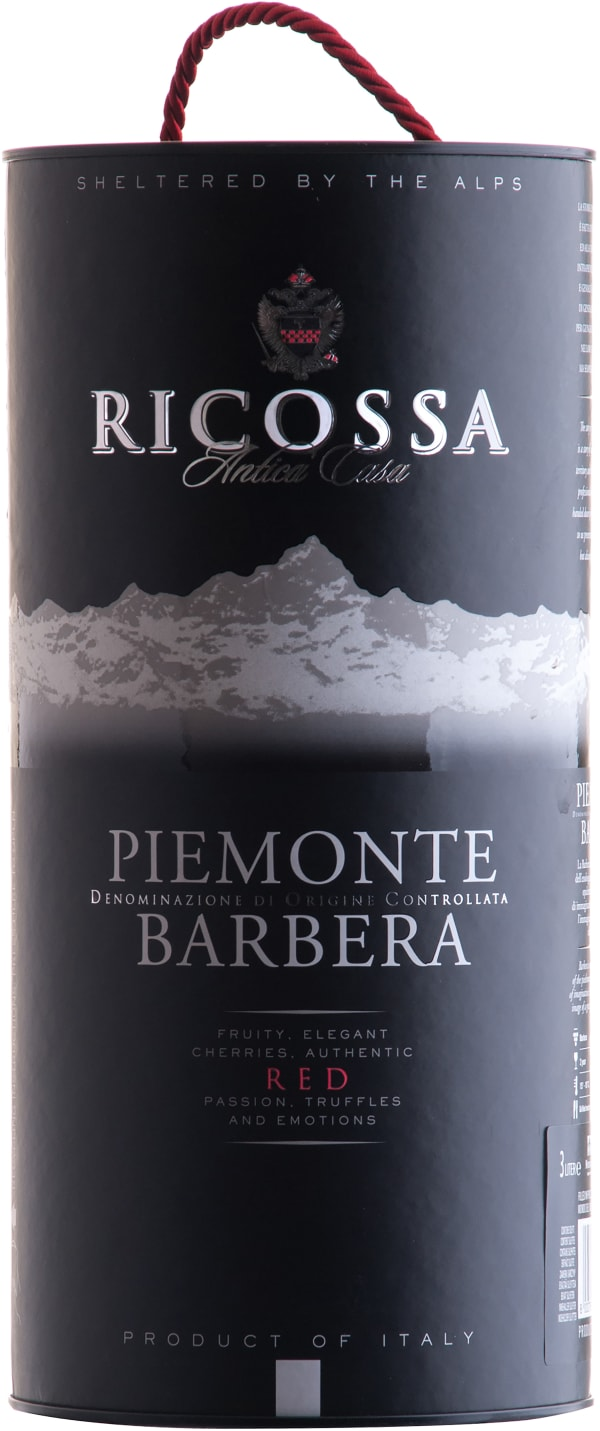 Ricossa Barbera Piemonte 2017 hanapakkaus