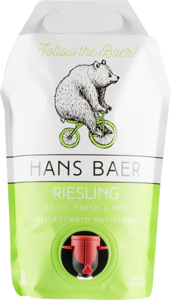 Hans Baer Riesling 2018 wine pouch