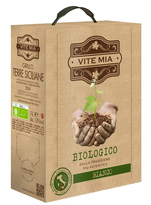 Vite Mia Biologico Bianco 2018 bag-in-box