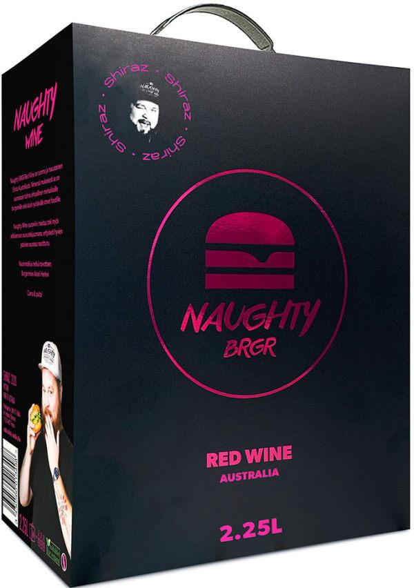 Naughty Brgr Red Wine lådvin