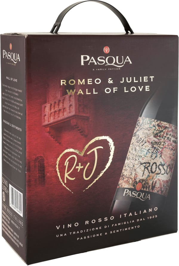 Pasqua Romeo & Juliet Wall of Love Rosso lådvin