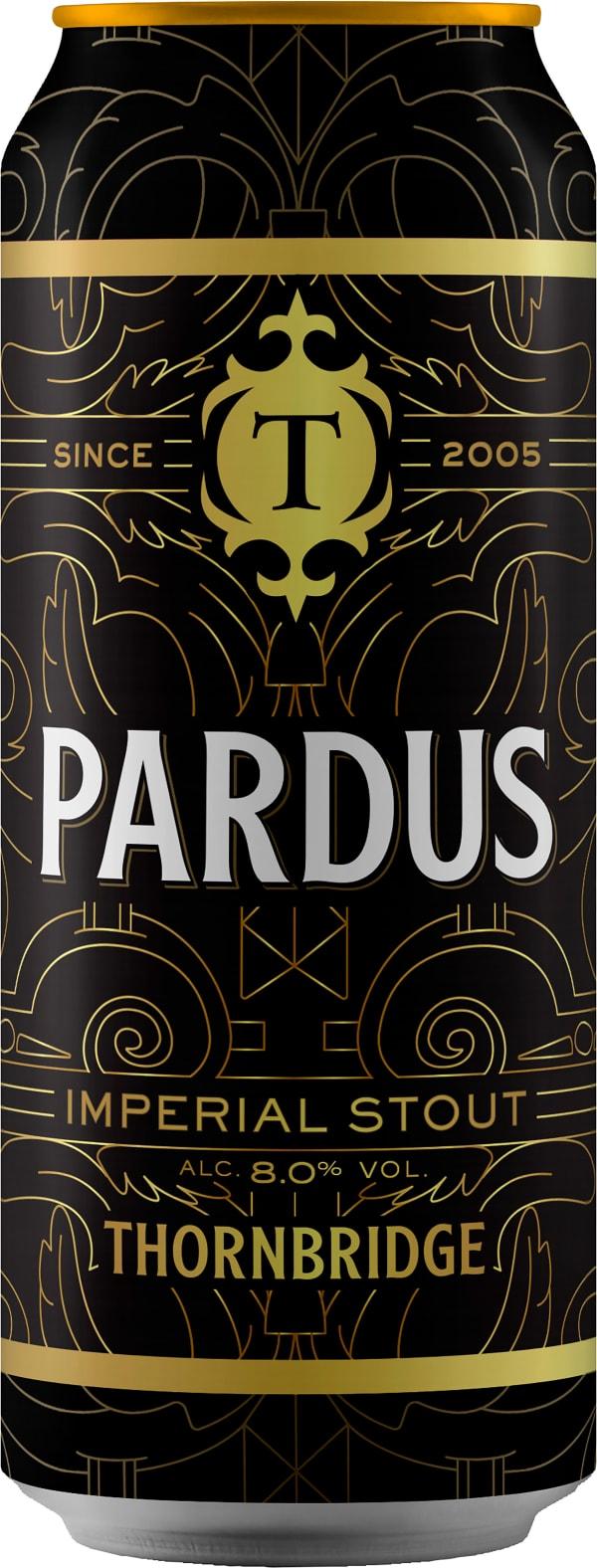 Thornbridge Pardus Imperial Stout can