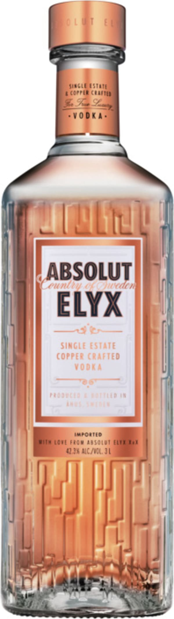 Absolut Elyx Single Estate Copper Crafted Vodka