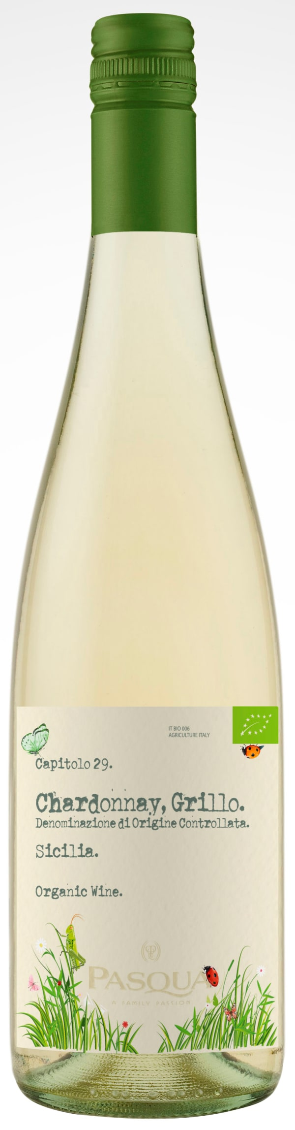Pasqua Chardonnay Grillo Organic 2017