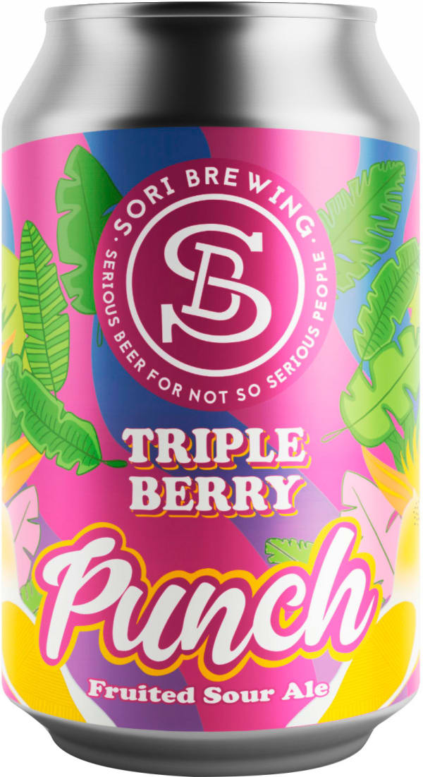 Sori Triple Berry Punch can