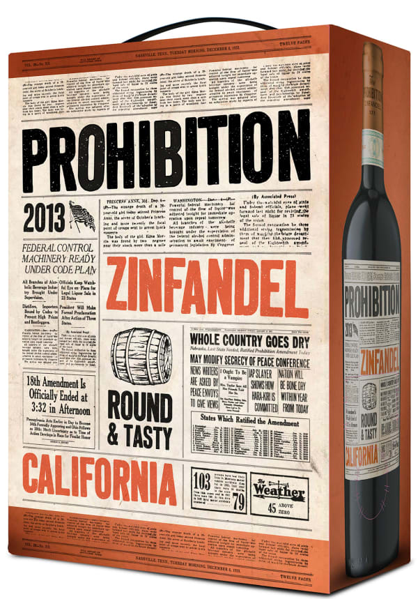 Prohibition Zinfandel 2015 bag-in-box