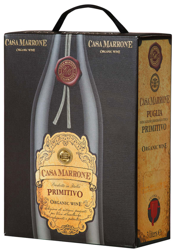 Casa Marrone Organic Primitivo 2020 bag-in-box