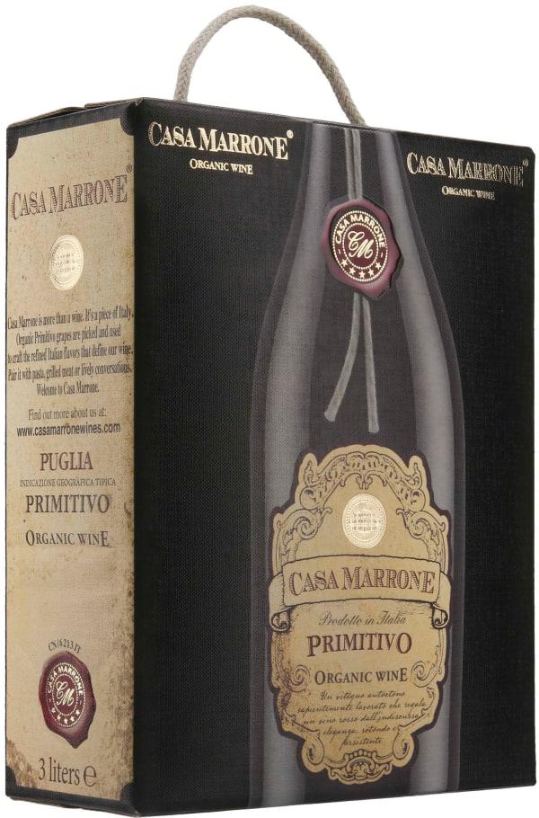Casa Marrone Organic Primitivo 2020 bag-in-box