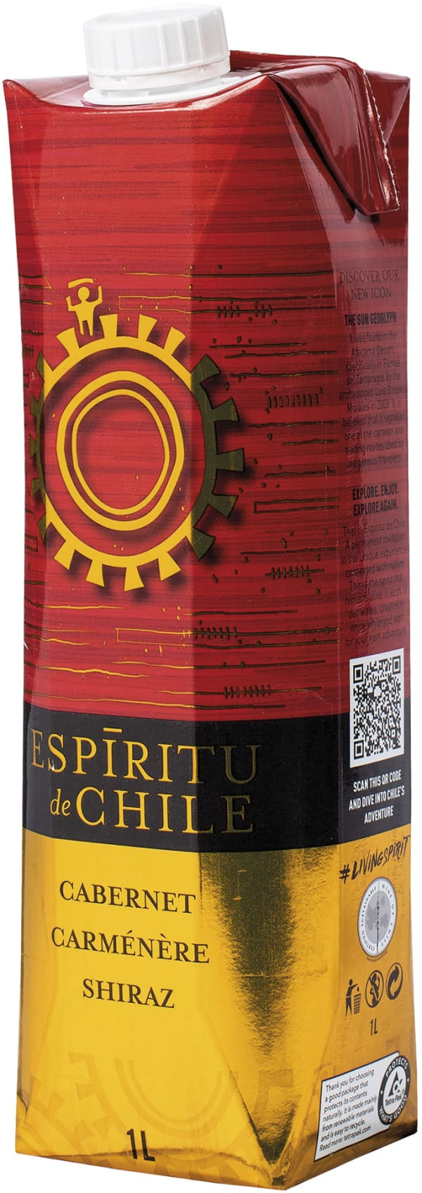Espíritu de Chile Cabernet Carmenere Shiraz carton package