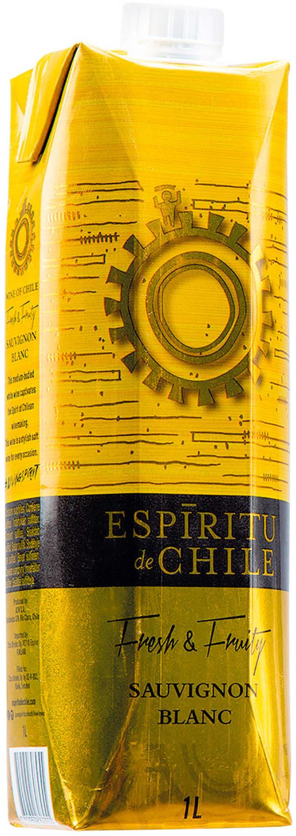 Espiritu de Chile Fresh & Fruity Sauvignon Blanc carton package