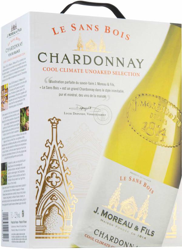 J. Moreau & Fils Le Sans Bois Chardonnay 2018 lådvin