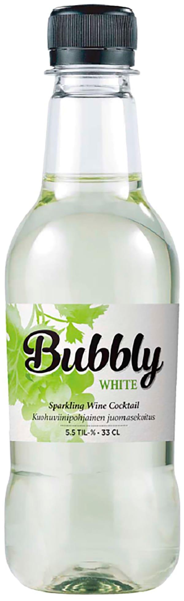 Bubbly White plastic bottle