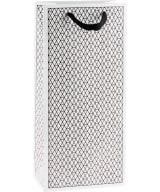 2-bottle gift bag Net, black and white