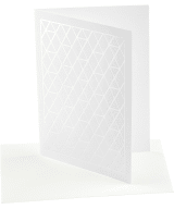 A-net greeting card, silver