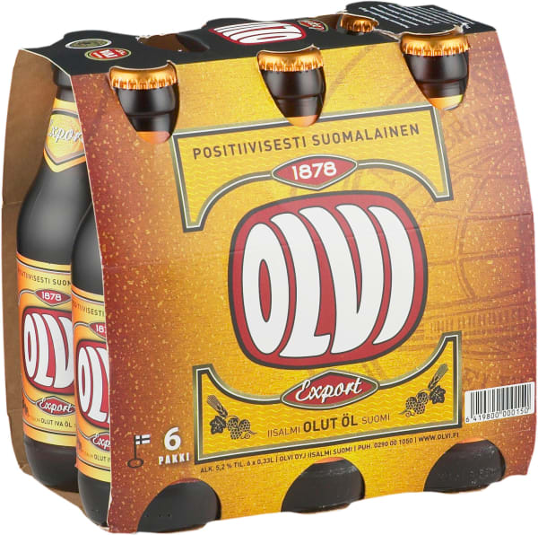 Olvi Export A 6-pack  pullo