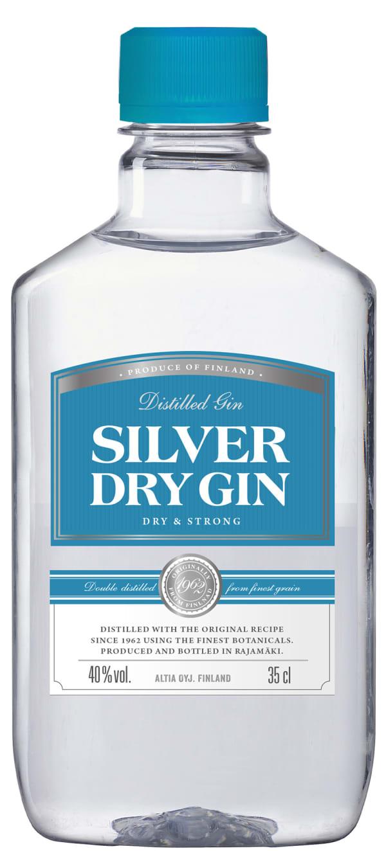 Silver Dry Gin  muovipullo