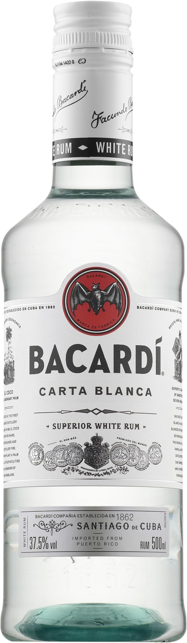 Bacardi Carta Blanca  plastic bottle