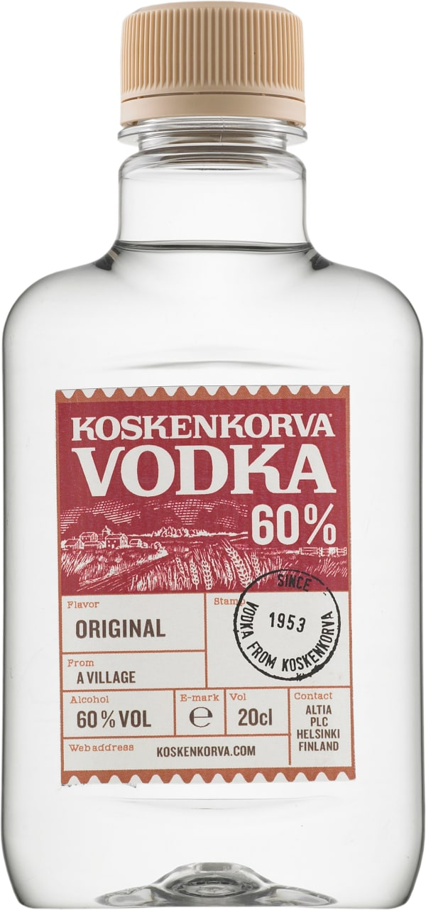 Koskenkorva Vodka 60 %  plastic bottle