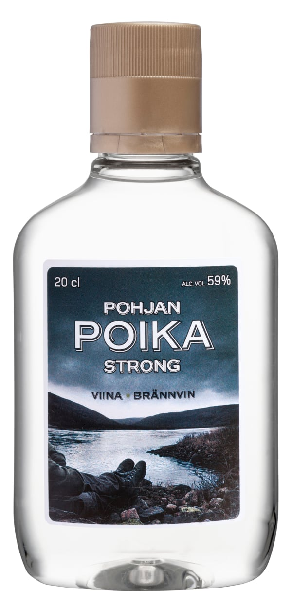 Pohjan Poika Strong Vodka  plastflaska